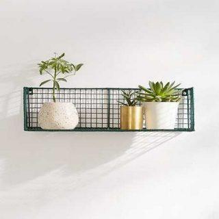Metal 2Lİ Set Rüstik Çalışma Odası-Banyo ve Mutfak Tel Duvar Rafı