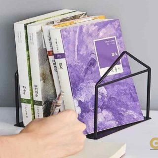 Ev Modeli Masaüstü Kitap Ayracı, Basit Ofis Dergi Organizatör Standı (Bir Çift)