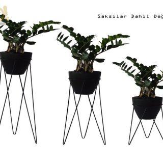3'lü Set TRIO Modern Çiçeklik, Saksı Tutucu