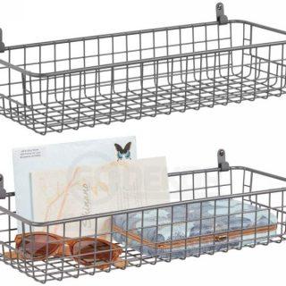 L-Kancalı 2'li Çok Amaçlı Metal Duvar Sepeti (Saklama Kabı)