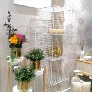 Metal Kafes Dekoratif Tel Vitrin/Konsol Modeli