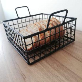 Çok Amaçlı Kompakt Metal Kare Sevimli Ekmek Sepeti
