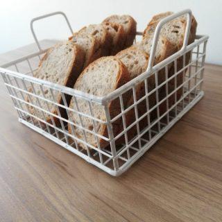 Çok Amaçlı Metal Kare Sevimli Ekmek Sepeti (BEYAZ)